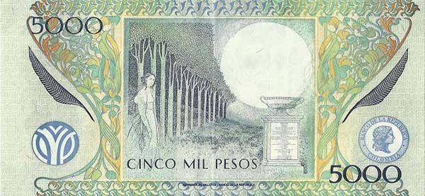 Billete Colombiano de 5.000 pesos